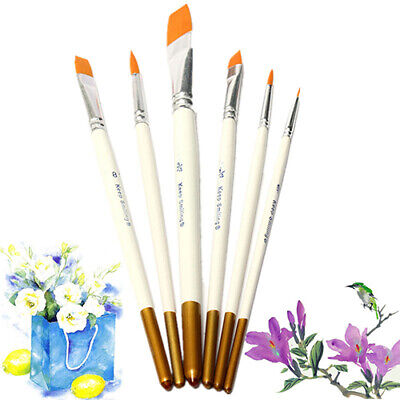 6pcs/lot Artist Acrylic Painting Brushes Set Oil Watercolor Paint Brush Good