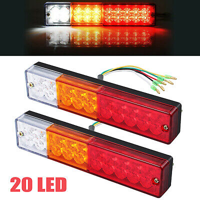 2x 12/24V 40LED Tail light Stop Brake lamps Lights SUBMERSIBLE Boat Trailer kit