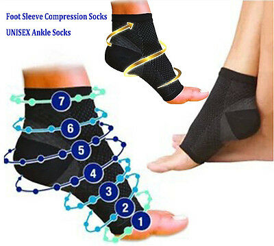 Plantar Fasciitis Compression Socks Foot Sleeve Ankle Support Brace Achy Heel AU