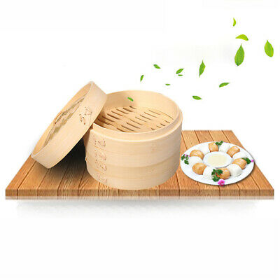 Chinese Traditional Kitchen Tool Bamboo Steamer Basket for Food Cooking 21cm