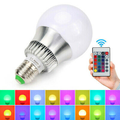 Multi Color Changing Magic Lamp 5W E27 E26 RGB LED Bulb Light+IR Remote Control