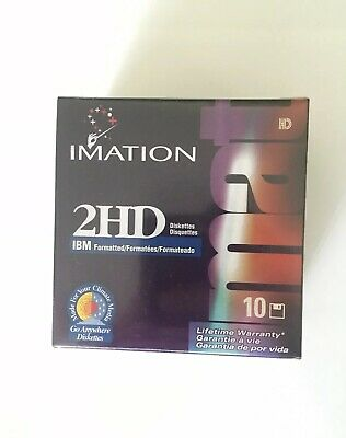 Imation 2HD Disks 1.44 MB 10 Pack NEW SEALED