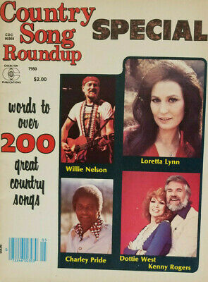 Country Song Roundup Magazine 1980 Special - Willie Nelson - Loretta Lynn - VF