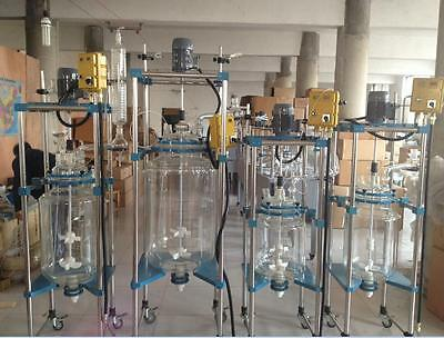 100L Jacketed Glass Chemical Reactor Vessel Explosion Proof Customizable GOOD T