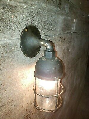 Vintage Glass Globe for Benjamin Explosion Proof Industrial Wall Light! Brass 5#