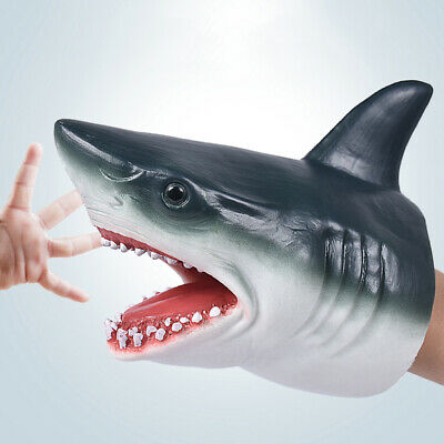 NEW Stretchy Shark Hand Puppet  - Funny Silicone Shark Puppet - Gift 2019 rgz
