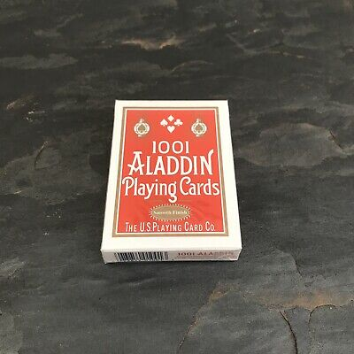 1001 Aladdin | Luxury Playing Cards | Red Deck | Smooth Finish | USPCC