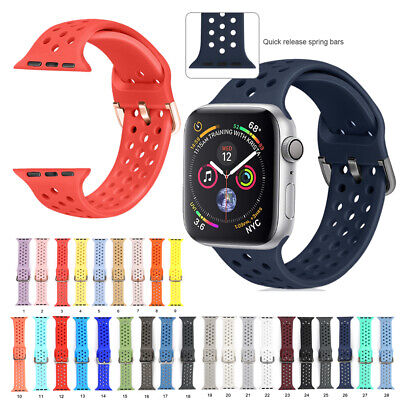 Silicone Sports Breathable Bracelet Band Straps for Apple Watch Series 4 3 2 1
