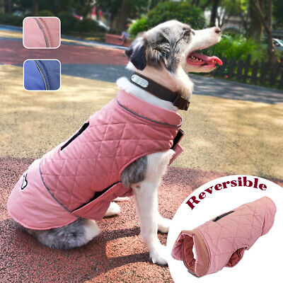 Dog Clothes Winter Pet Jacket Coat Reversible Wear for Small Medium Large Dogs