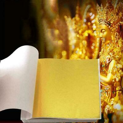 500X Gold Foil Leaf Sheet For Craft Design 8X8.5 CM High Quality I4H9