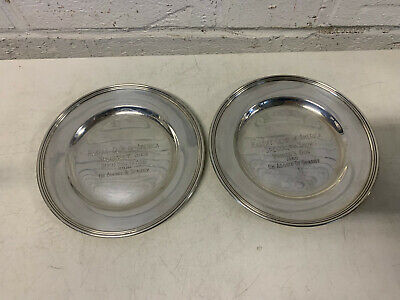 International Sterling Silver Mastiff Club of America 1960 Dog Show Winner Plate