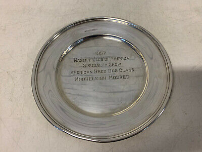 Vtg Randahl Sterling Silver Mastiff Club of America 1957 Dog Show American Bred