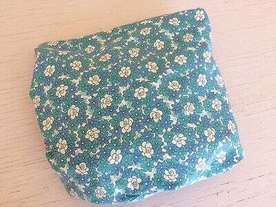 Vintage, Retro, Cotton Sheet. Single Fitted Bedding, Craft, Sewing Fabric.