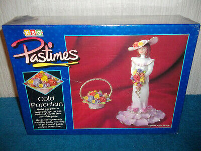Pastimes - Create A Porcelain Figurine & Basket Of Flowers - New & Sealed - Rare
