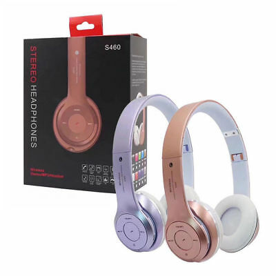 AU Foldable Stereo Wireless Bluetooth Headset Headphones Noise Cancelling W/ Mic
