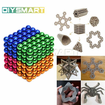 216PCS 3/5mm Magic Magnets Neodymium Sphere 3D Puzzle Cube Stress Relief AU