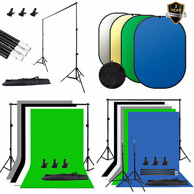 Photography Studio Screen Backdrop Background Support Stand Light Reflector New