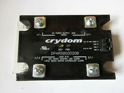 Crydom 20A DP Solid State Relay, DC, Panel Mount, MOSFET, 48Vdc Max shf 7719981