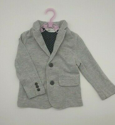 Baby Girl Clothes 18-24 Months Outfit H&M Grey Coat Jacket