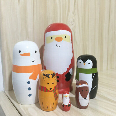 6pcs Cute Nesting Dolls Stacking Doll Collection Toy for Adults Children Kids