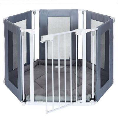 Playpen 6 Sided Baby Playpen with Door and Mattress Complete Folding