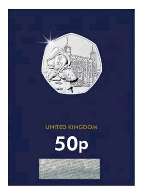 2019 Paddington Bear at The Tower Fifty Pence 50p Coin Brilliant Uncirculated BU