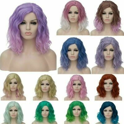 Lady Lolita Ombre Wigs Party Synthetic Hair Short Curly Cosplay Anime Wig+Cap AU