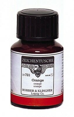 Rohrer & Klingner Encre de Chine orange 50 ml
