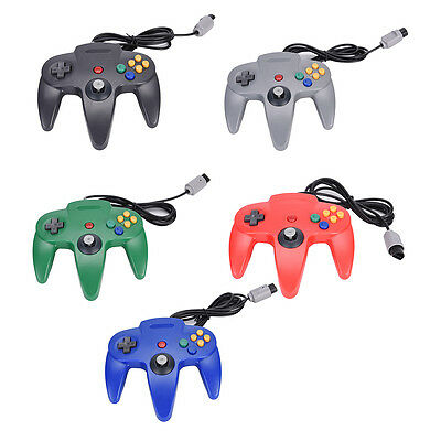 1x Long Handle Gaming Controller Pad Joystick For Nintendo N64 System BF