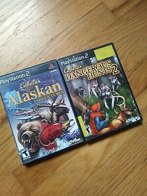 Set Of Two Games PlayStation 2 Cabela's Dangerous Hunts Alaskan Adventures
