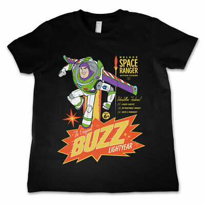 Buzz Lightyear Toy Story Pixar Official Childrens Tee T-Shirt Boys Kids