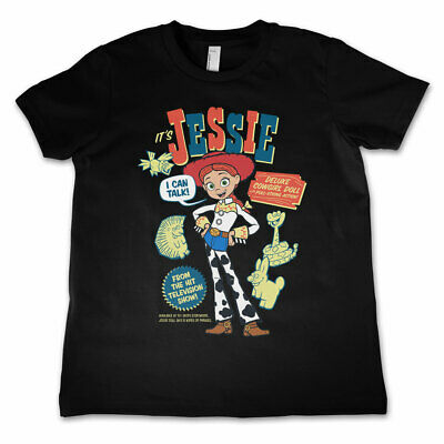 Jessie Cowgirl Toy Story Pixar Official Childrens Tee T-Shirt Girls Kids