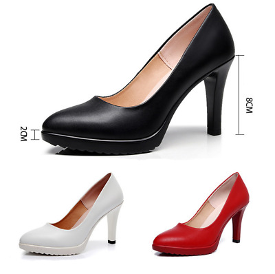 Fashion Women Stiletto High Heel Ladies Work Dress Office Platform Pumps Shoes
