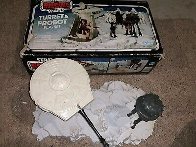 VINTAGE 1980 KENNER STAR WARS ESB TURRET & PROBOT PLAYSET COMPLETE with BOX