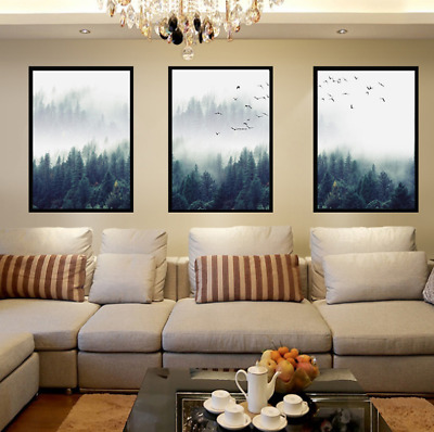 Wall Picture Home Decoration Forest Lanscape Wall Nordic Art Poster Canvas New