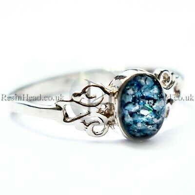 sterling silver scroll ring custom design hand made cremation ashes handmade