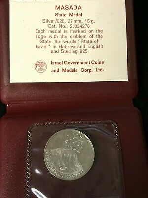MASADA Israel's State Medal Coin #25034278 27mm Silver .925