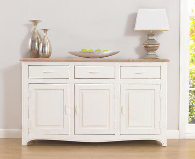 Buffet provenzale francese bianco shabby chic credenza for Arredamento francese provenzale