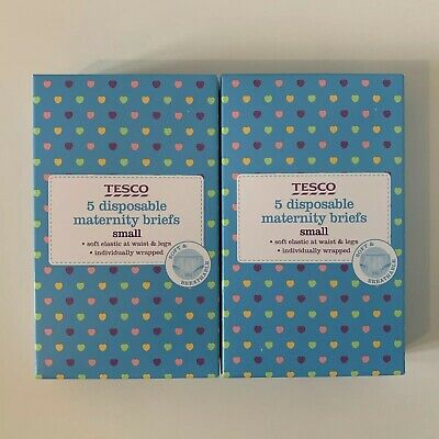 Tesco TWO Packs of 5 Disposable Maternity Briefs Small 6-8