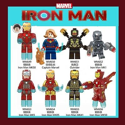 NEW Iron man AVENGERS minifigures end game MARVEL LEGO bundle Fit mini figure UK