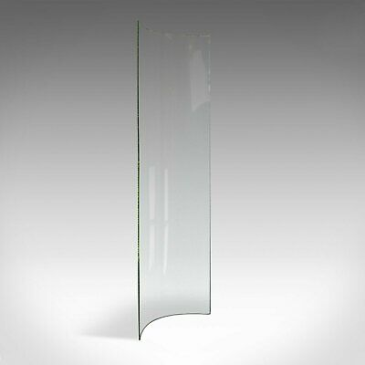 Antique Curved Glass Sheet, English, Victorian, Bow, Pane, 19th Century