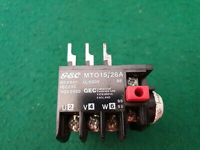 GEC   MTO 15/28A Overload Relay 1 - 1.5 Amp