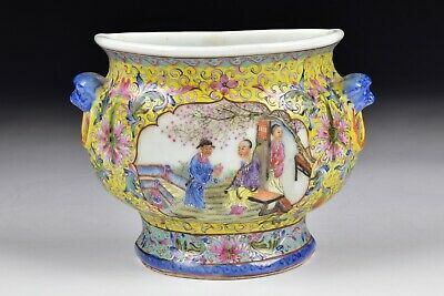 Chinese Early Republic Period Famille Rose Porcelain Wall Vase Signed