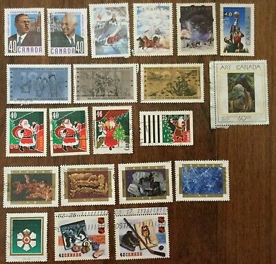 Canada 1991-1992  21 Off Paper Different Used Stamps