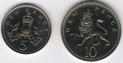 1971 Elizabeth II Proof 5 & 10 New Pence Coins | Pennies2Pounds