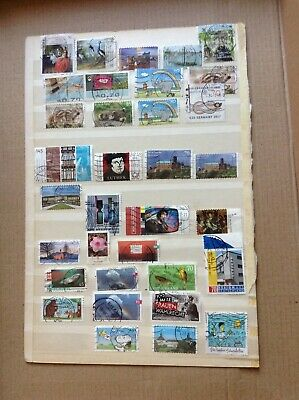 GERMANY 59 USED STAMPS OFF PAPER 2017-2019 from kiloware