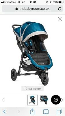Baby Jogger City Mini GT Teal/Grey/Black Pushchair Single Seat Stroller.