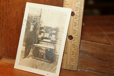 Antique Victorian or Edwardian Era Photo Young Man Salesman Cabinet John Brennan