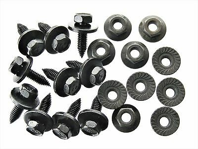 6-1.0 X 20mm Hex Washer Head Black Flange Body Bolts GM 11503800 5682 Set of 25