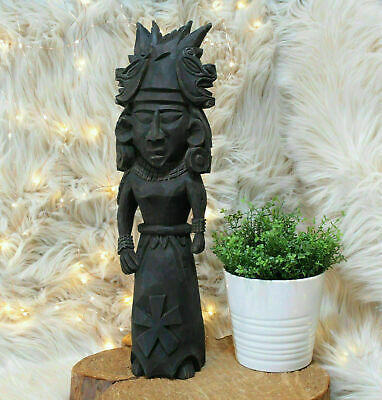 Vintage Carved Wood Wall Figure Goddess Of Fertility Totonaca Cihuateotl Mexico